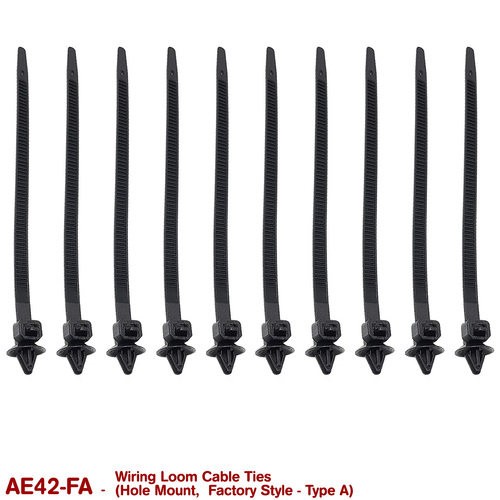 CABLE TIES - HOLE MOUNT  (FACTORY TYPE A)