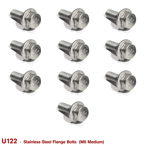 FLANGE BOLTS M6 MEDIUM  (STAINLESS STEEL)